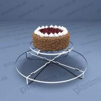 Подставка под торт двухъярусная