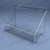Пластиковая коробка наклонная