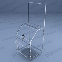 Коробка для пожертвований на болтах с местом под информацию