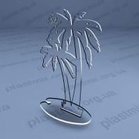 Подставка под серьги, пальма